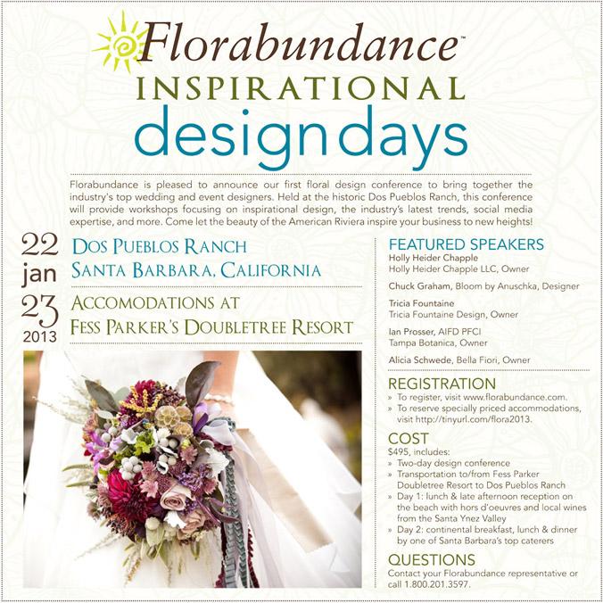 Florabundance Inspirational Design Days - Jan. 22 and 23, 2013