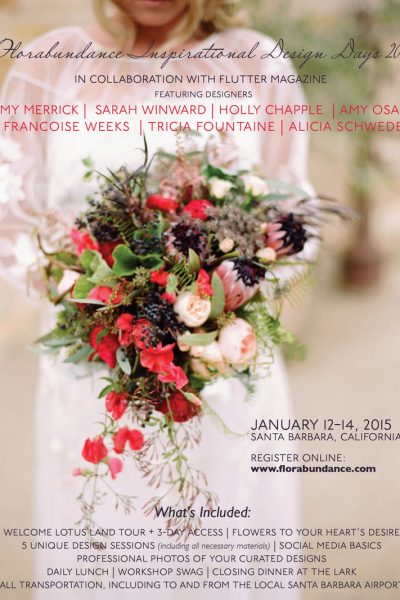 Florabundance Inspirational Design Days 2015 In Santa Barbara California