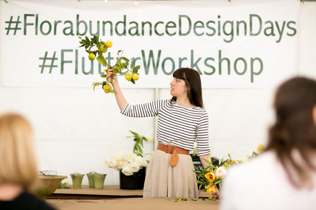 Florabundance Design Days 2015 - Amy Merrick sharing her love of citrus branches.