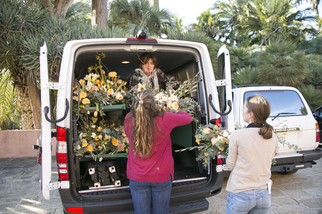 Florabundance Design Days 2015 - Loading up the flowers which will be delivered to hospitals and nursing care homes for more enjoyment!