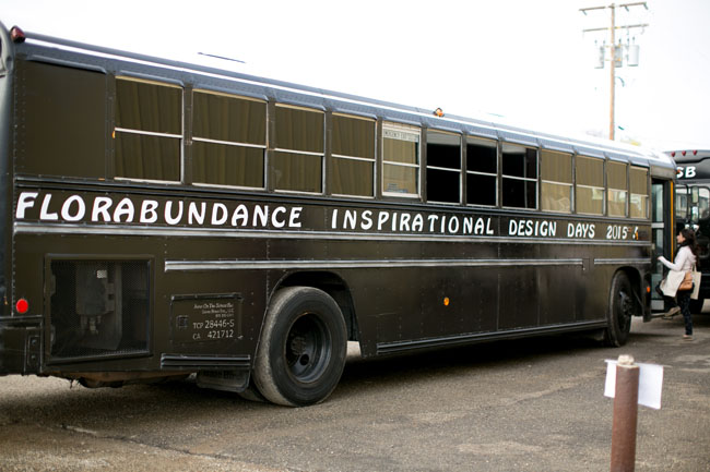 Florabundance Design Days 2015 - The Bus We Rode From The Hotel To LotusLand.