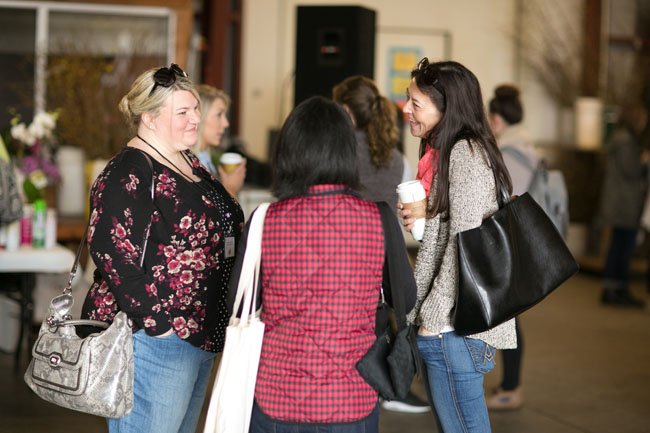 Florabundance Design Days 2015 - The ladies getting to know each other before the flower fun starts!