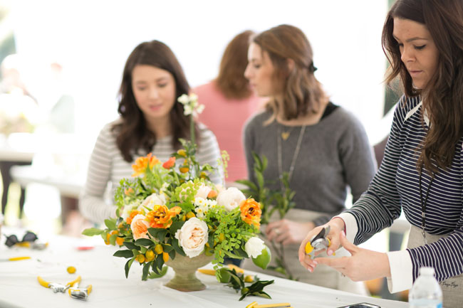 Florabundance Design Days 2015 - The lovely ladies of Mum's Flowers working on a design from Amy Merrick's session.
