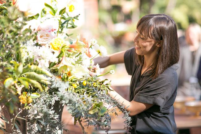 Florabundance Design Days 2015 - Sarah Winward sharing her designing techniques.