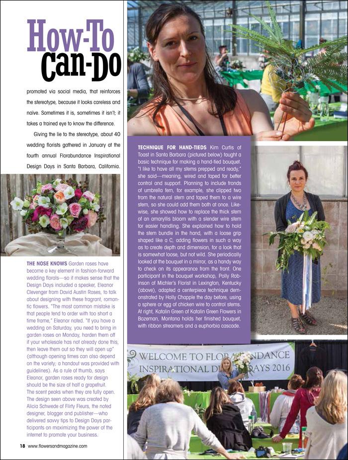 Florabundance Design Days 2016 - Featured in Flowers& Magazine, David Austin Garden Roses, Alicia Schwede with Flirty Fleurs Blog