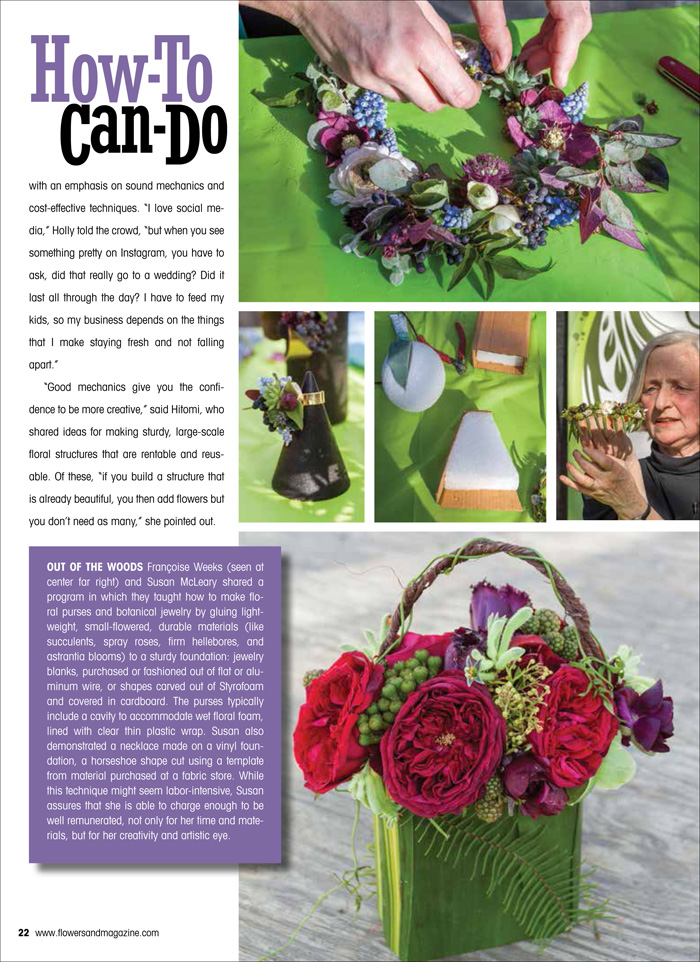 Florabundance Design Days and Flowers& Magazine, Francoise Weeks and Susan McLeary