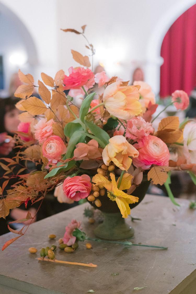 Florabundance Design Days 2019, Santa Barbara, California. Photographs by Corbin Gurkin. Floral Design by Kiana Underwood of Tulipina in progress.