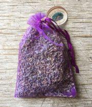 Dried Lavender Organza Sachet