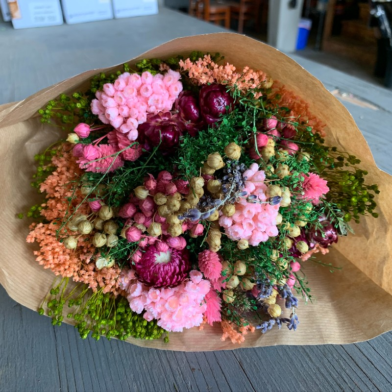 Fantasy Pink Dried Bouquet