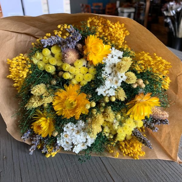 Fantasy Yellow Dried Bouquet