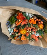 Dried Mixed Bouquet, Orange Fantasy