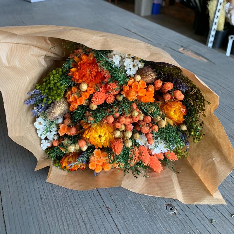 Orange Fantasy Dried Bouquet
