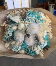 Dried Mixed Deluxe Bouquet, Light Blue Pastel