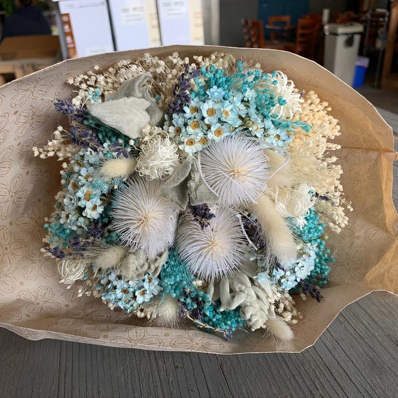 Pastel Light Blue Dried Bouquet
