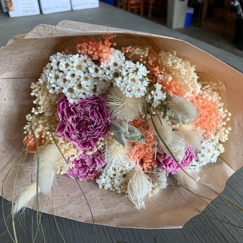 Pastel Light Pink Dried Bouquet