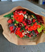 Dried Mixed Bouquet, Red Fantasy
