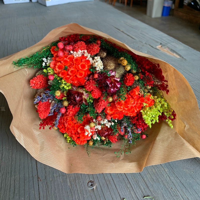 Red Fantasy Dried Bouquet