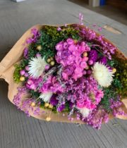 Dried Mixed Bouquet, Violet Fantasy